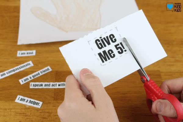 This Give Me 5! Kindness activity for kids is a great way for students to internalize what they need to do to be a kind person. It includes positive affirmations for kids to set clear expectations of what they need to do to show more compassion. It's a great for sel curriculum and character education.