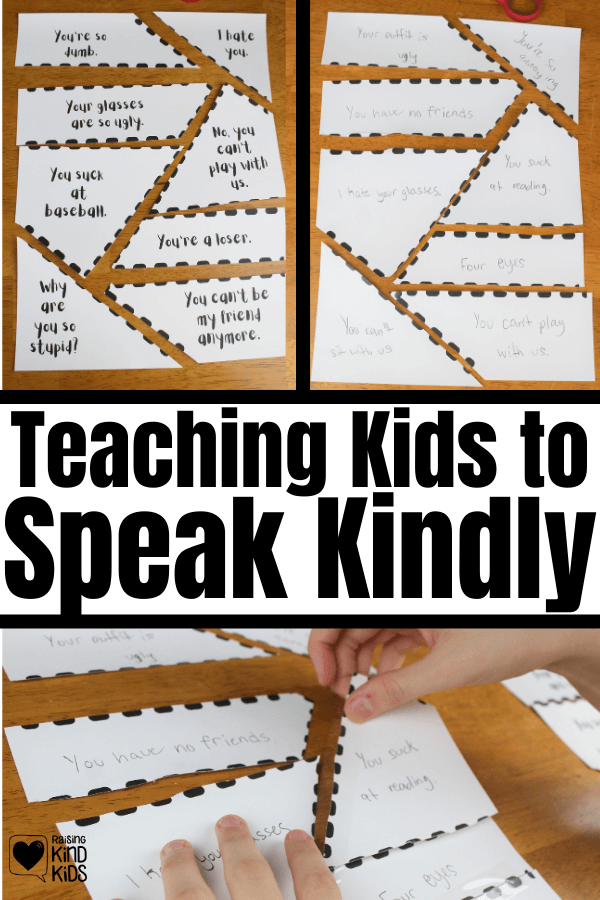 Teach kids to think before they speak is a crucial skill. Teaching kids to speak kindly is easy with this kindness activity for kids.