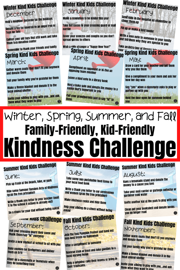 12 months of kindness activities for kids are so much fun with these seasonal kindness activities your family can do to make kindness a habit.