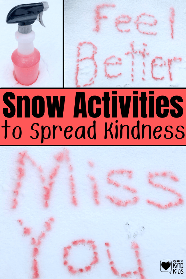 These snow activities for kids is a perfect winter activities for kids to keep them busy and entertained and to spread kindness. They can visit a friend, classmate or neighbor and leave a kindness message as a random act of kindness. #randomactsofkindness #kindnessactivities #kindnessactivitiesforkids #snowactivitiesforkids #snowactivities