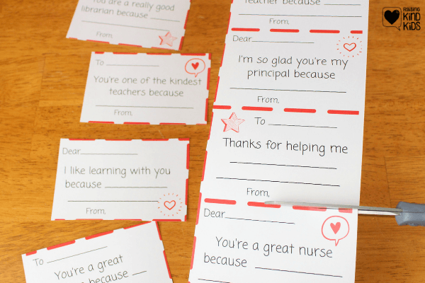 Show teachers and school staff appreciation with these kindness appreciation thank you notes for educators