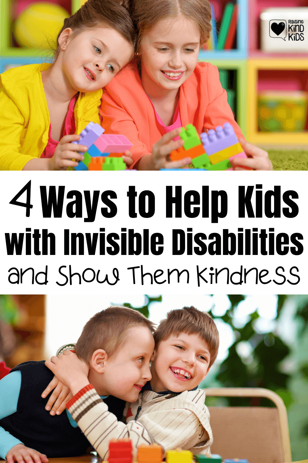 Help your kids be kind to kids who have invisible disabilities with these 4 ways to show more kindness to kids with rare genetic conditions.