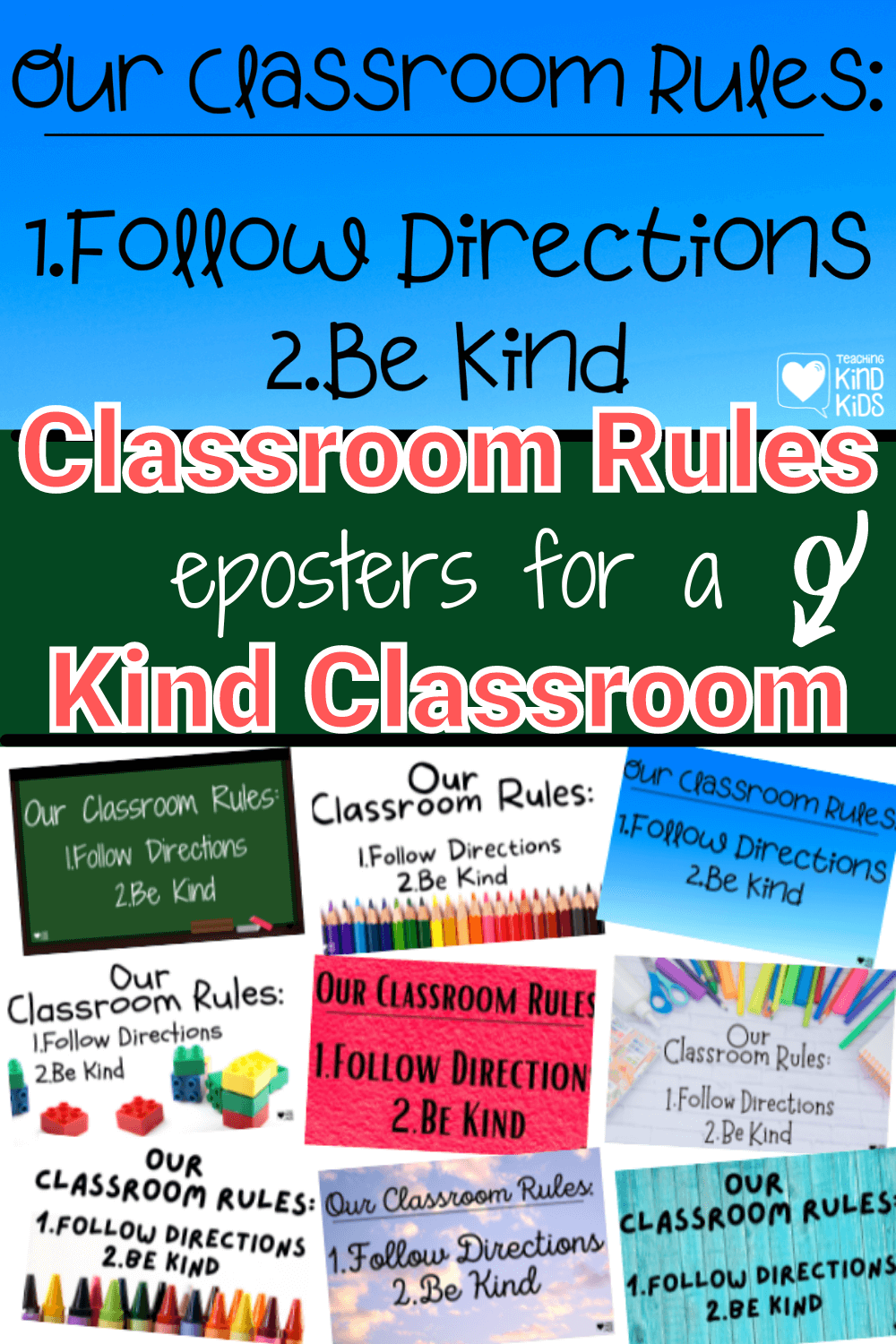 These classroom rules posters are perfect to set clear expectations and create a positive classroom enviornment.