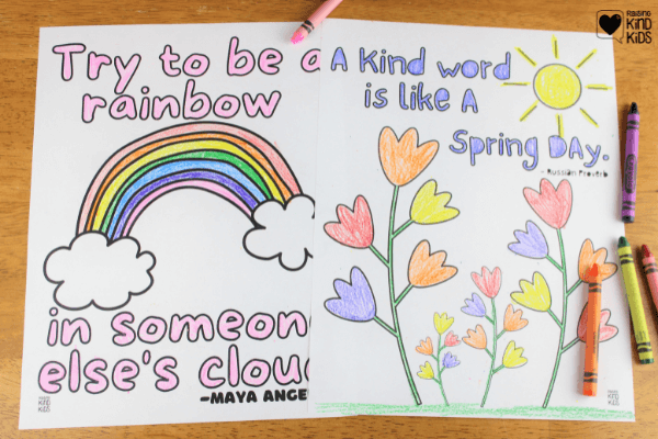 Use these kindness coloring sheets to encourage more kindness with kids.