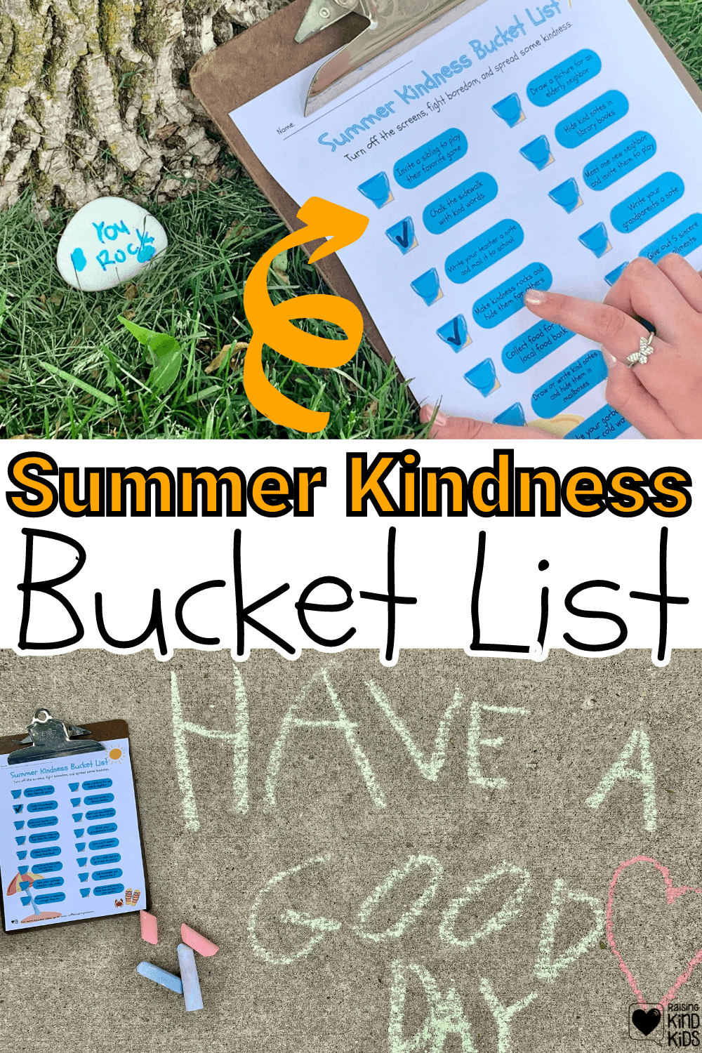 Use this summer kindness bucketlist to encourage your kids or students to act and speak with more kindness this summer and learn different ways to show their kindness. It's a great summer boredom buster for kids and families.