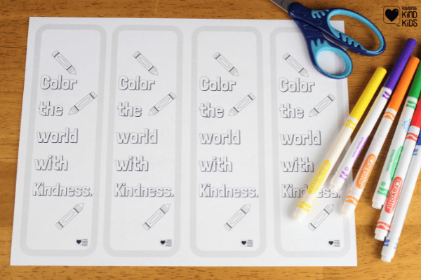 Use these color kindness bookmarks to encourage kids to remember to be kind when they're reading books. This free printable is perfect for classrooms, libraries and book clubs.