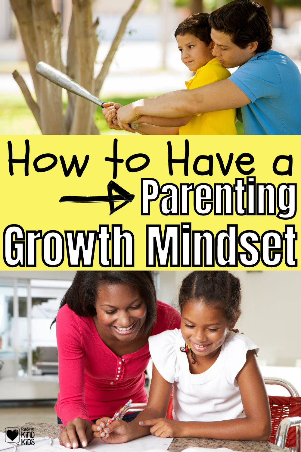 How to have a parenting growth mindset so we can help our kids succeed and grow their own growth mindsets.
