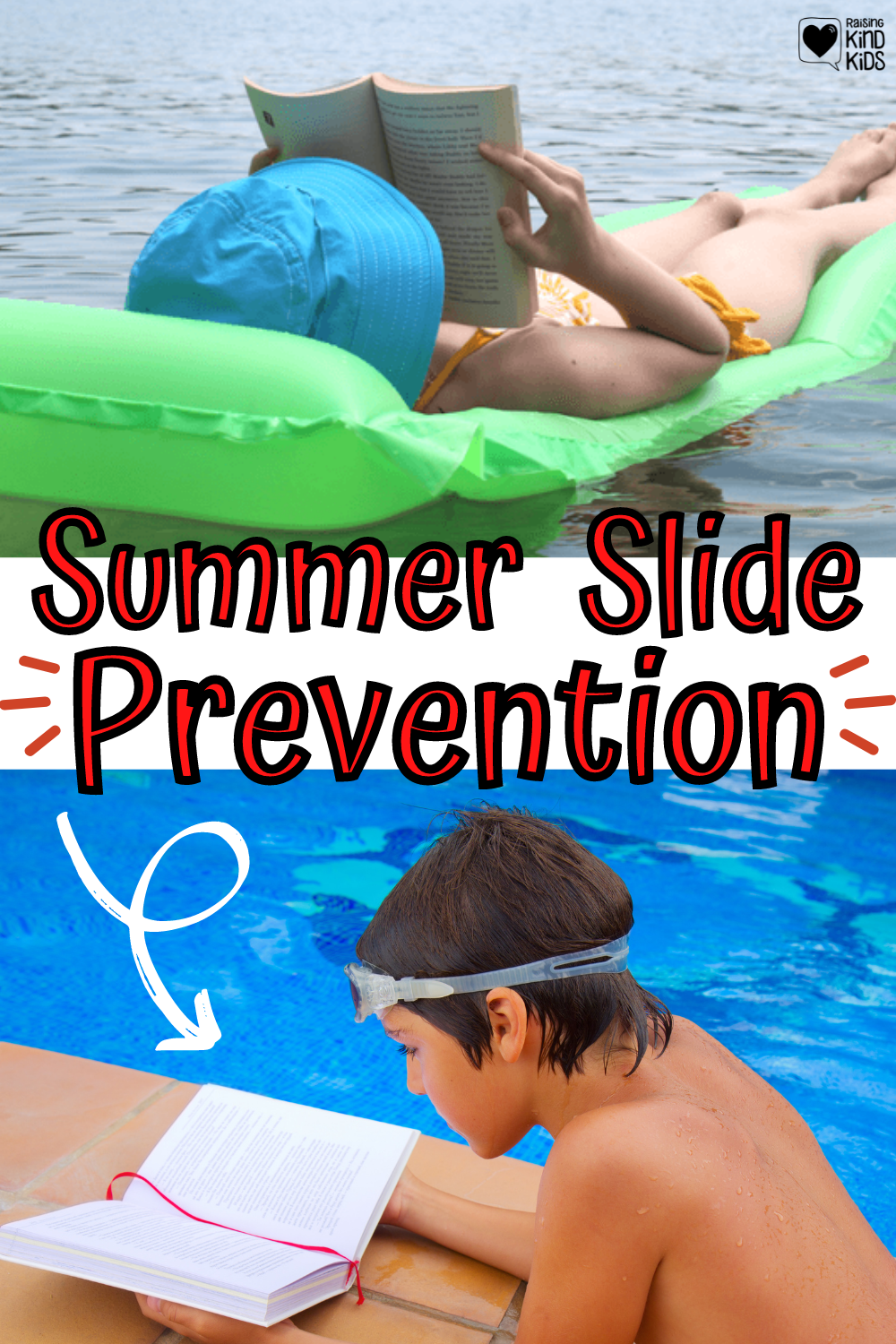 How to Prevent a Summer Slide and Set your kids up for success in the fall by not letting them fall behind and forget what they've learned. This summer slide prevention is so helpful for parents and students and teachers. #summerlearning #summerslide #summerfun #summerroutine #coffeeandcarpool #summerreading
