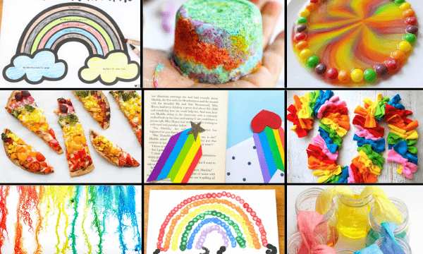 Use these rainbow activities and crafts to celebrate pride month and be an LGBTQ ally or use these rainbow crafts for anytime to celebrate the colors of the rainbow.