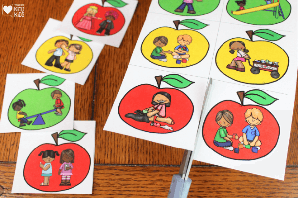 Use this apple kindness kind or unkind sort activity to teach sel curriculum in a hands on and fun way, that's perfect for fall.